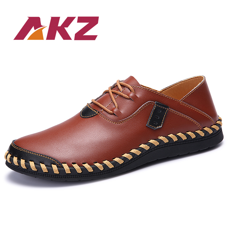 AKZ 2018 Summer Men Casual shoes New Fashion Microfiber Leather Adult - Men's Shoes