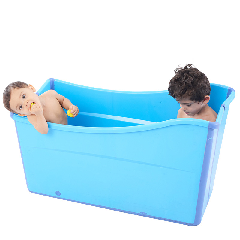 2019 Fashion Large Children's Bath Tub Adult Folding Insulation Bath Tub Baby Sitting Lying Bath Tub Swimming Non Slip Bathtub