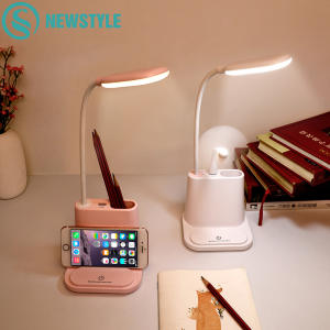 Desk-Lamp Bedside Study Touch Bedroom USB Reading Living-Room Rechargeable Kids Children