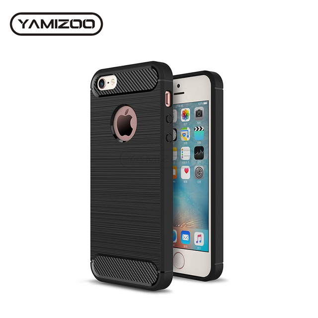 on sale e0041 64ec9 US $1.37 31% OFF|YAMIZOO Back Cover For iPhone se 5 5s Case Silicone Soft  Thin Coque Red Black Phone Cases For iPhone 5s se 5 Carbon Case Luxury -in  ...