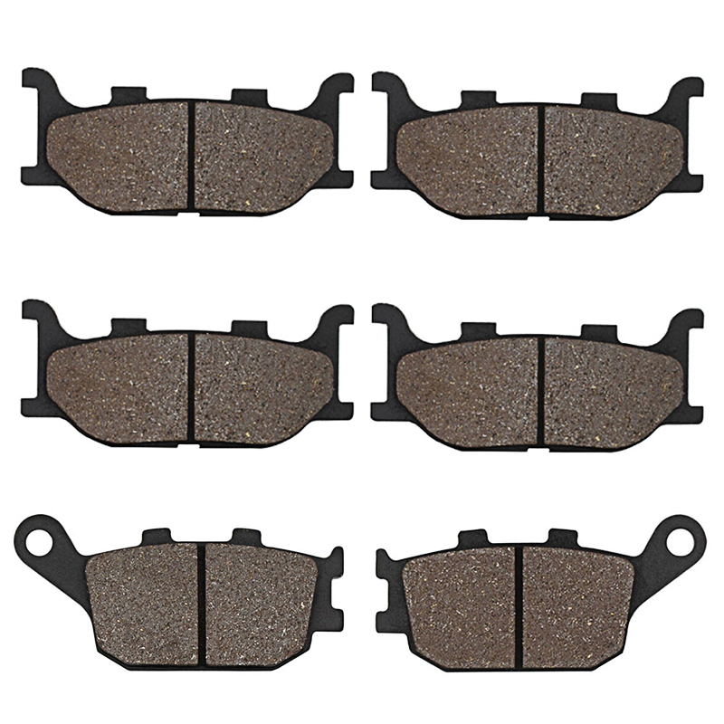 Cyleto Motorcycle Front and Rear Brake Pads for <font><b>Yamaha</b></font> FZ 6 <font><b>FZ6</b></font> Fazer Fairing 2 Piston Caliper 04-07 XJ6 XJ 6 S Diversion 2013 image