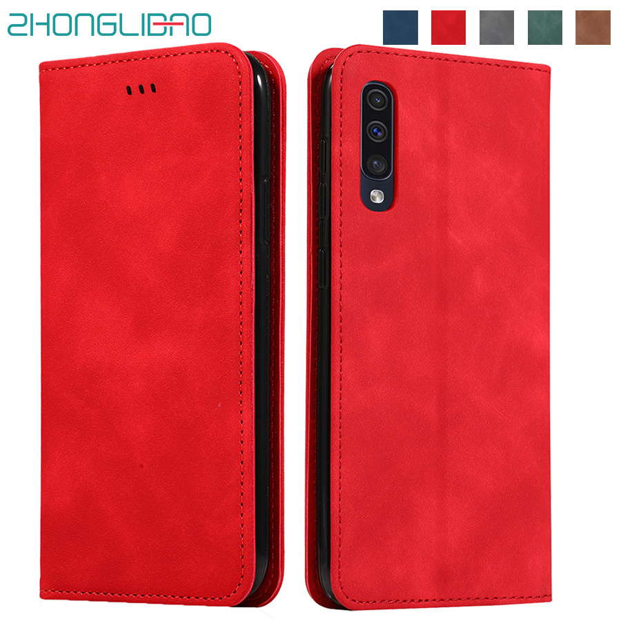 Magnetic Flip Leather Case for <font><b>Samsung</b></font> J4 J6 A8 Plus A7 A9 2018 Capa A20e Fundas A60 Case for Galaxy A70 A50 A30 A20 <font><b>A40</b></font> <font><b>2019</b></font> image