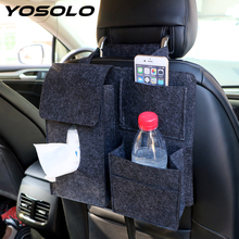 ФОТО yosolo drink tissue paper phone holder car back seat organizer container universal stowing tidying car storage hanging bag