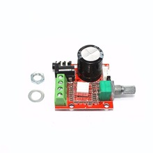 PAM8610 Mini Power Amplifier Board, TDA2030 12V 10W Pure Class D Stereo Amplifier gzlozone pnp sanken a1216 jlh1969 single ended class a power amplifier kit 10w 10w