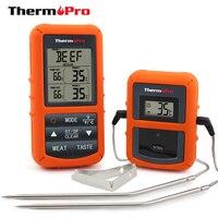 Thermopro TP-20リモートワイヤレスデジタルクックバーベキュー喫煙オーブン温度計家庭ステンレス鋼プローブ大画面でタイマ