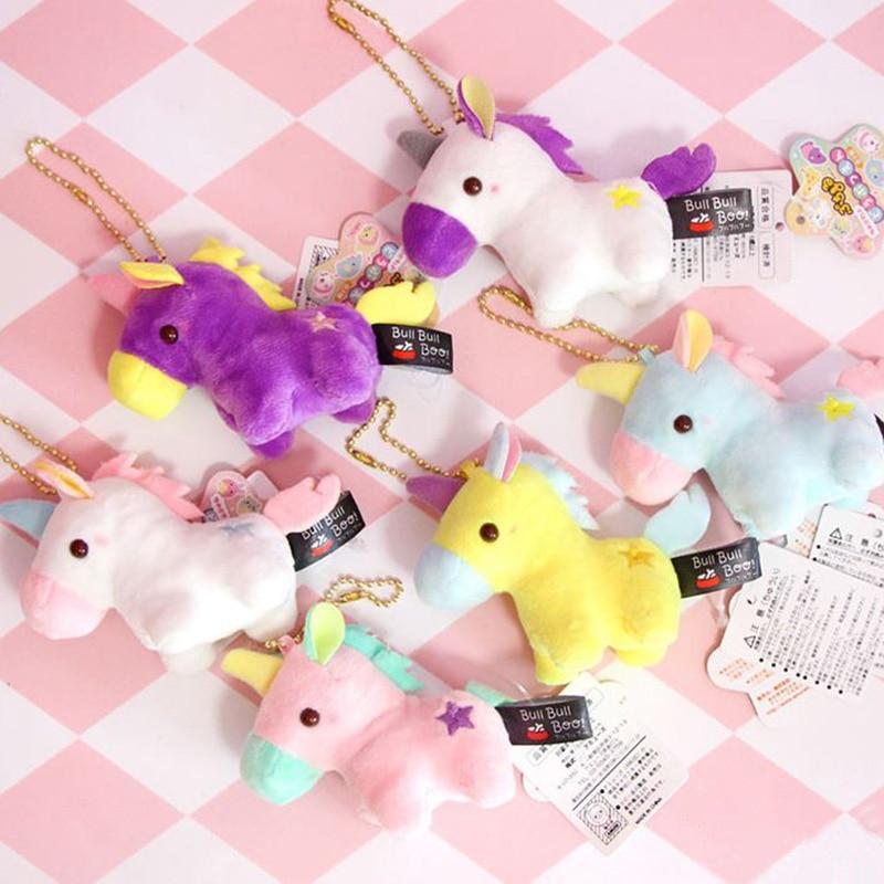 1 Pc Lovely Unicorn Plush toy keyring keychain bag pendant Soft Stuffed unicorn animals toys Plush doll Toys stuffed toy