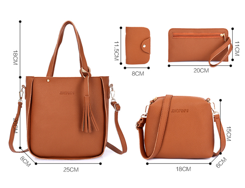 HTB1NmhjaEAKL1JjSZFkq6y8cFXaa - Women Bag Set Top-Handle Big Capacity Female Tassel Handbag Fashion Shoulder Bag Purse Ladies PU Leather Crossbody Bag