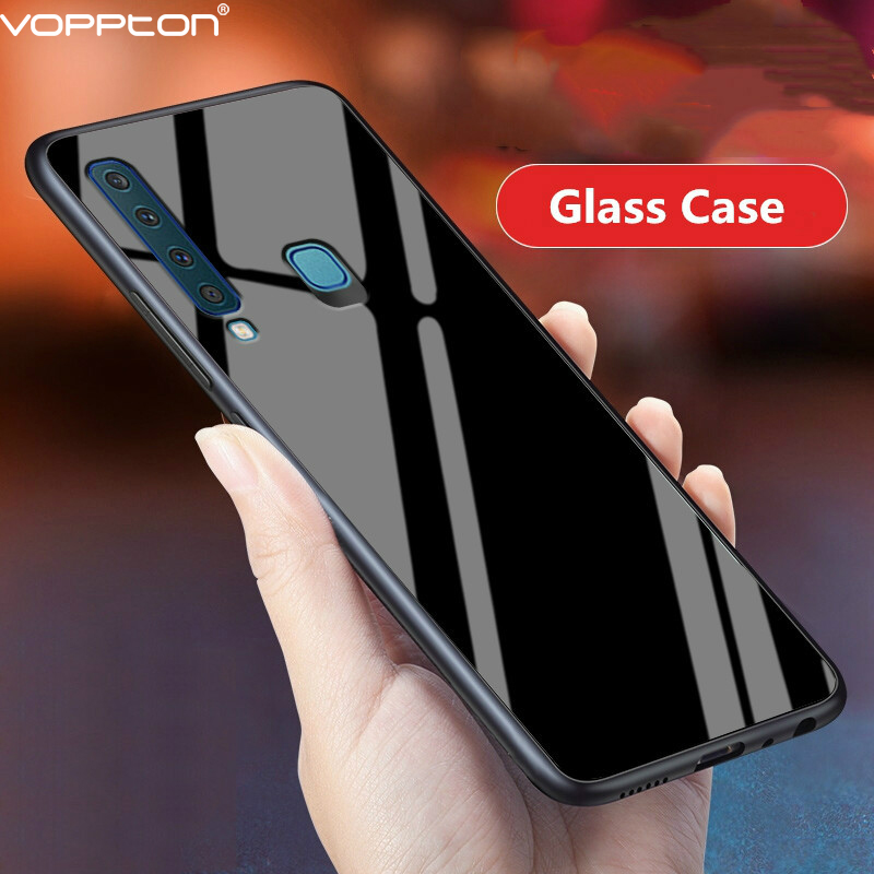 huge selection of 17d33 f632d Tempered Glass Case For Samsung Galaxy A9 2018 Case Soft Frame Hard Glass  Back Cover For Samsung A9 2018 A920 Shockproof