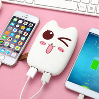 RHOADA Original Ultrathin Cute Emoji 10000mAh Portable 2 USB External Battery Charger Power Bank For IPhone
