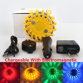 цена на Rechargeable LED Car Light with Magnetic Round Emergency Beacon Strobe Warning Light Police Flash Lamp Automobiles