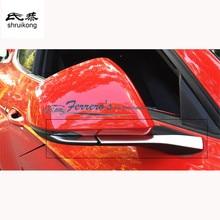 무료 배송 자동차 스티커 스타일링 스테인레스 스틸 2015 2016 뉴 포드 머스탱 자동차 백미러 장식 커버
