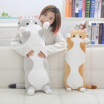 をキャンディス郭かわいいぬいぐるみラブリーキャット子猫抱擁私豚貯金箱のウサギのソフトぬいぐるみロングボディ枕誕生日クリスマスギフト