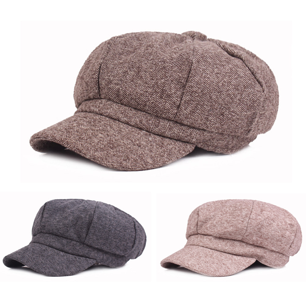 Men Vintage Cotton Wool Gatsby Newsboy s