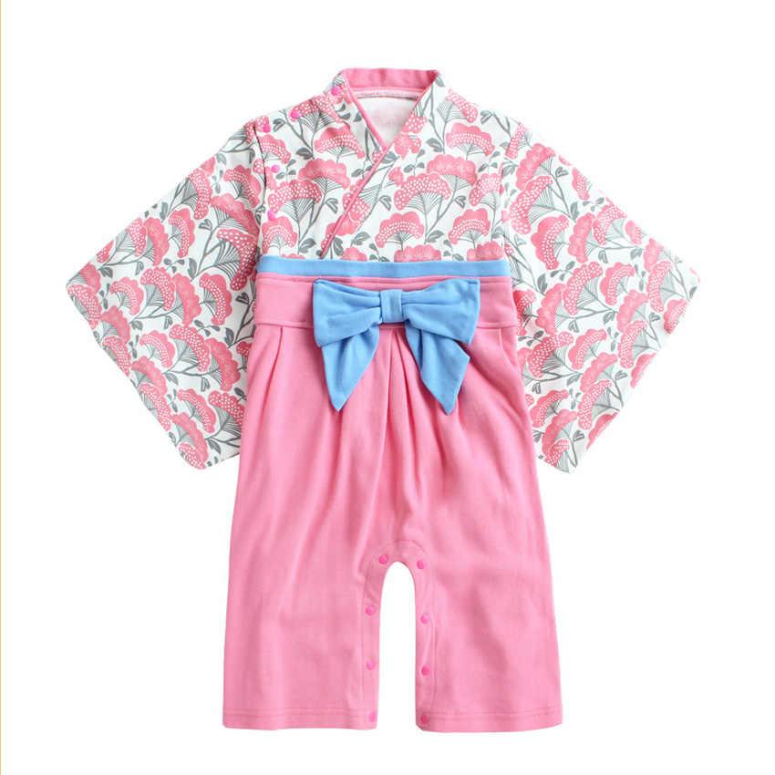 Унисекс для малышей длинный рукав хлопок; мягкая и удобная обувь кимоно, одежда для сна, для новорожденных, для маленьких мальчиков и девочек (Япония) Стиль Мужская пижама-кимоно Повседневное