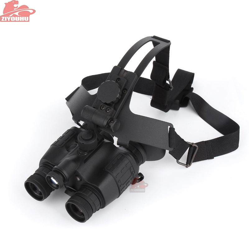 ZIYOUHU HD Infrared Anti-glare Vision Helmet Head-mounted Night Vision Goggles Binocular Patrol Tactical Hunting Scope