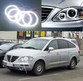 For SsangYong Rodius 2004-2013 Excellent led Angel Eyes Ultrabright illumination smd led Angel Eyes Halo Ring kit