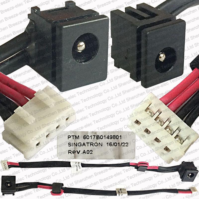 D'origine DC POWER JACK CABLE pour Toshiba Satellite L350 L350D L355 L355D A300 A305 A305D C650 C650D C655 C655D 6017B0149801
