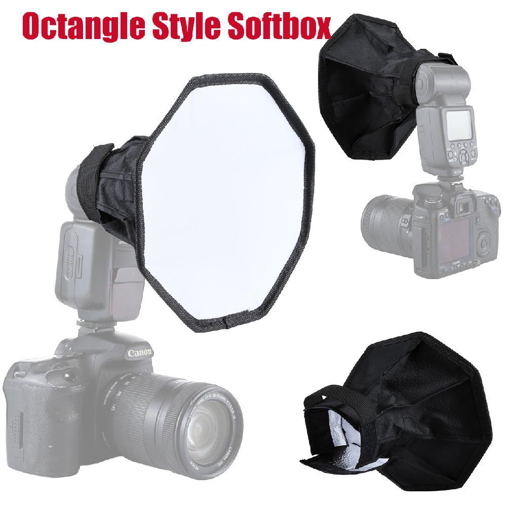 Tüketici Elektroniği'ten Yumuşak şemsiye'de Kuulee oval stil Softbox 20cm katlanabilir yumuşak flaş işık difüzör kamera fotoğrafçılığı Softbox stüdyo