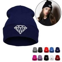 2016 personality design Hip-Hop Men's cap diamond shape printed Beanies Winter Cotton knit hedging Hats