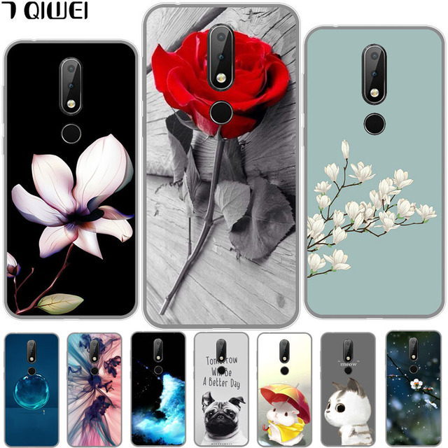 detailed look 5ff9b 843ce US $1.44 39% OFF|5.8'' Case For Nokia 6.1 Plus Case Silicone Soft TPU Back  Cover For Nokia 6.1 Plus Cover Cartoon For Nokia X6 2018 Phone Case-in ...