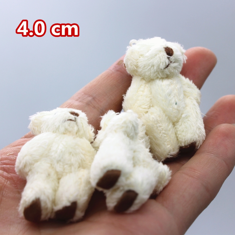 10pc 2colors 4 0cm high quality mini Joint Teddy Bear Plush Stuffed Wedding Box toy doll