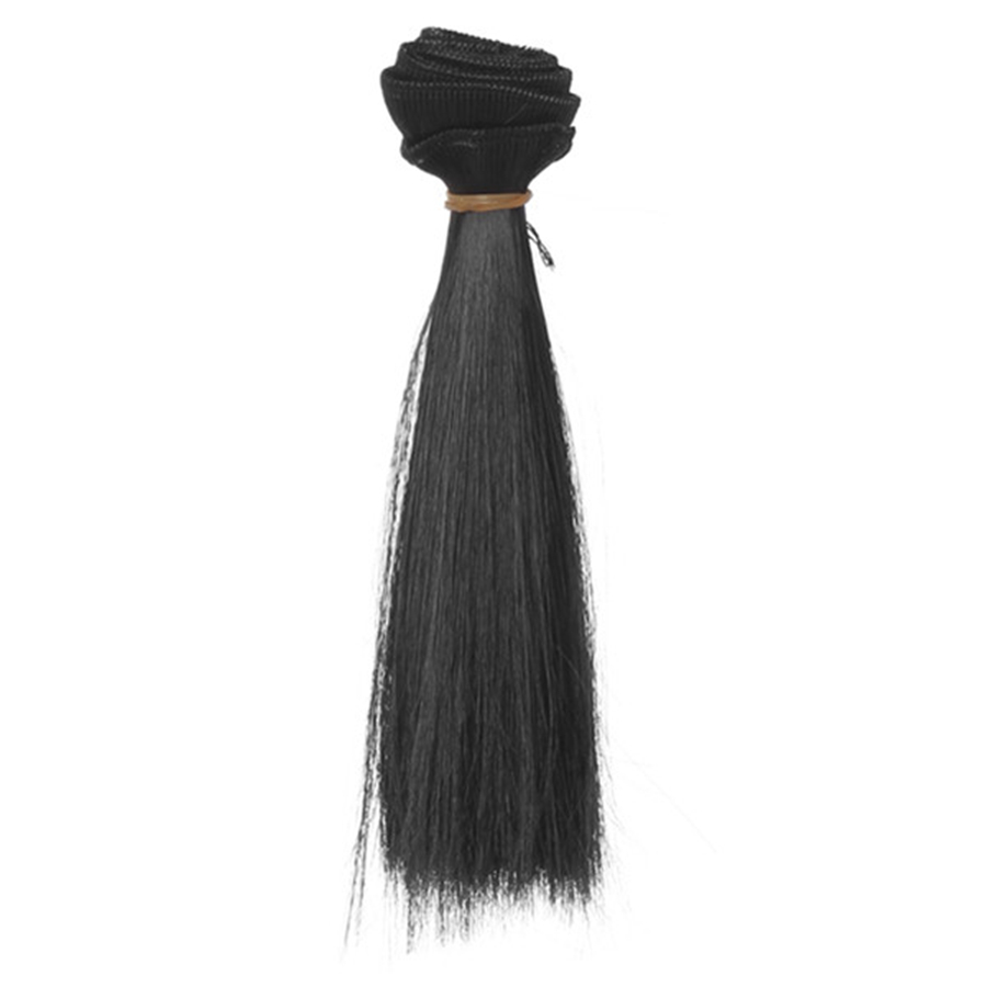 1 Pc 15*100cm Doll Accessories Straight Synthetic Fiber Wig Hair For Handmade Cloth High-temperature Wire Diy Texitle-2