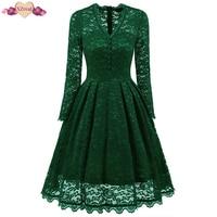 Vintage Tunic Lace Patchwork Dress Femal Robe Rockabilly Dress Casual Short Cap Sleeve Swing Summer Dresses