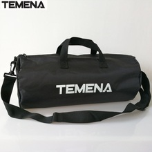 TEMENA High Quality Cylindrical Sports Bag For Men Women Mulifucntional Shoulder Fitness Bags Gym Bag Handbag
