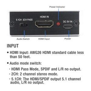 Image 3 - AIXXCO HDMI Audio extractor HDMI met Optische TOSLINK SPDIF + 3.5mm Stereo Audio Extractor Converter HDMI Audio Splitter
