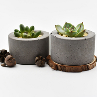 Round Silicone Mold Concrete Flower Pot Mould Handmade Bonsai Plate Pen Container Home Decoration Tool