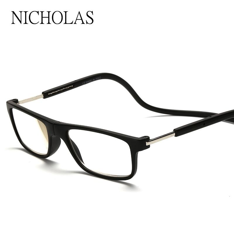 2016 Gafas de Lectura Magnética Hombres Mujeres Colgante Cuello Gafas Plegables Imán Magnético de Gafas Gafas De Lectura leesbril