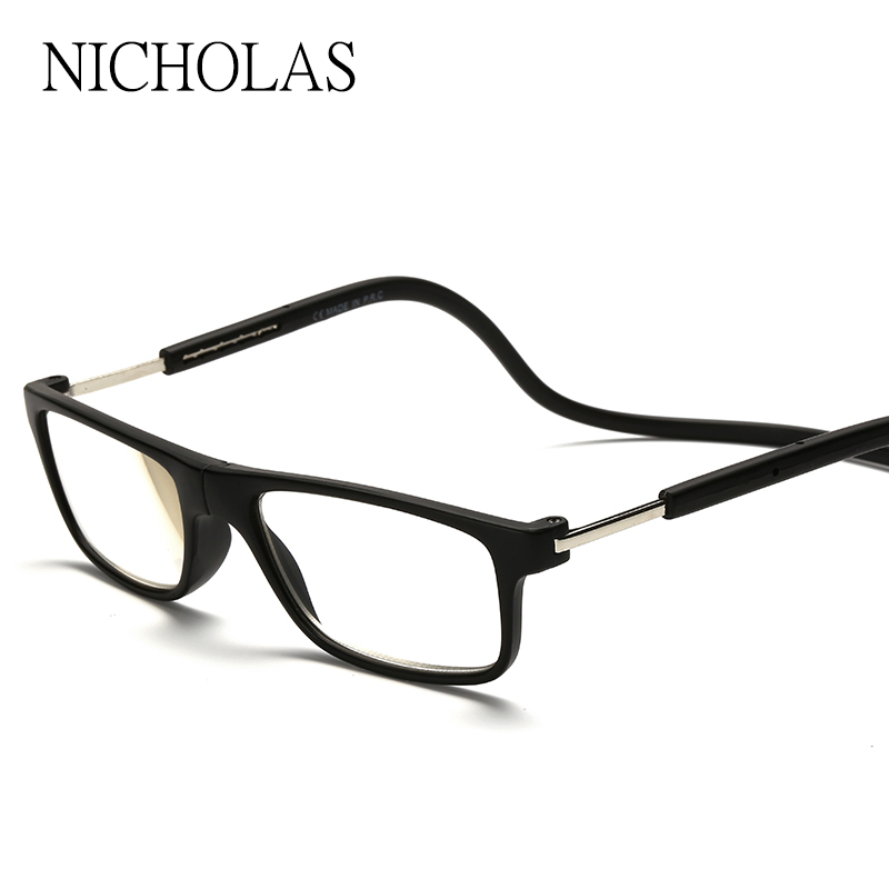 2016 Magnetische Leesbril Mannen Vrouwen Opknoping Hals Opvouwbare Bril Magnetische Lenzenvloeistof magneet Eyewear Gafas De Lectura leesbril