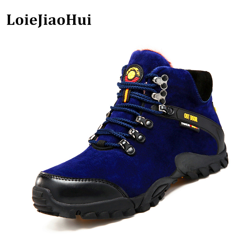 2016 New Fashion Men Casual Genuine Leather Boots Winter Warm Flats Brogues Oxford Shoes Men Outdoor Work Waterproof Boots 2016 new genuine leather ankle boots men flats shoes lace up casual outdoor shoes men oxford shoes autumn boots