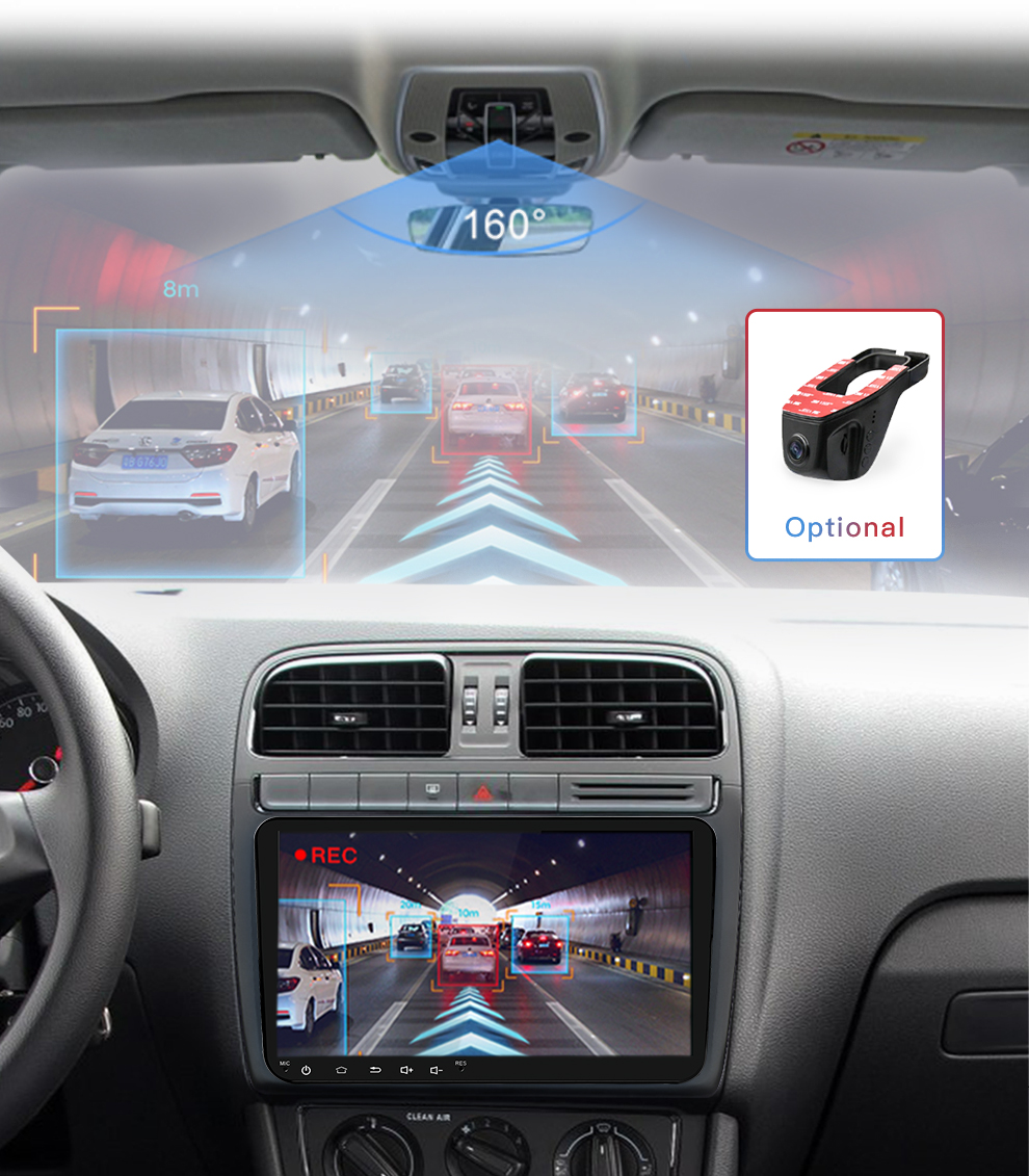 New 9 inch Car Multimedia Player Android 8 GPS Auto radio 2 Din USB For VolkswagenVW PassatPOLOGOLFSkodaSeatLeon Radio (16)