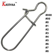 KASSYAA 10pcs#000 #00 #0 #1 #2 #3 #4 #5 #6 #7 #8 Fishing Connector Barrel Swivels Rolling Swivels Safety Snap Solid Rings KXY056 цена