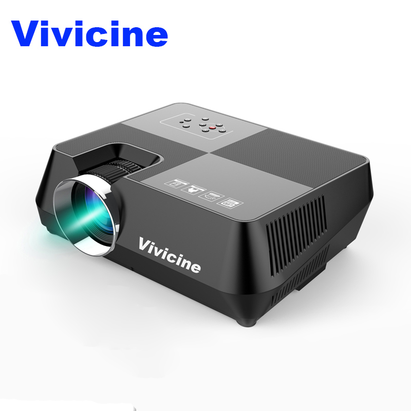 Vivicine Mini LED Projector Portable Multimedia Video Projector for Movie Games Optional 1280x800 Android WIFI Bluetoot