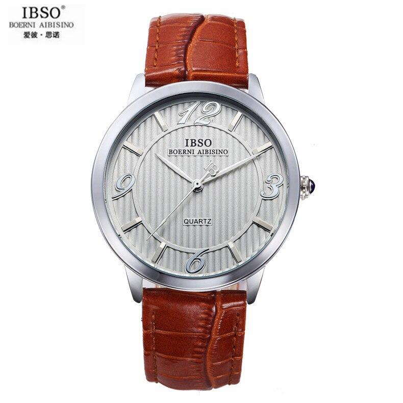 Ibso большой циферблат к восстановление древних способов отдыха Для мужчин и Для женщин часы Водонепроницаемый кварцевые часы ремень контра...