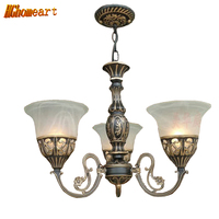Hghomeart Minimalist Continental Iron Chandelier Bedroom Living Room Lighting Dining Kitchen Retro Chandelier Ceiling Lights E27
