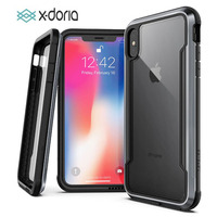 X doria Phone Case For iPhone XR XS Max Defense Shield Military Grade Drop Tested Case Cover For iPhone X X XS Max Capa Coque