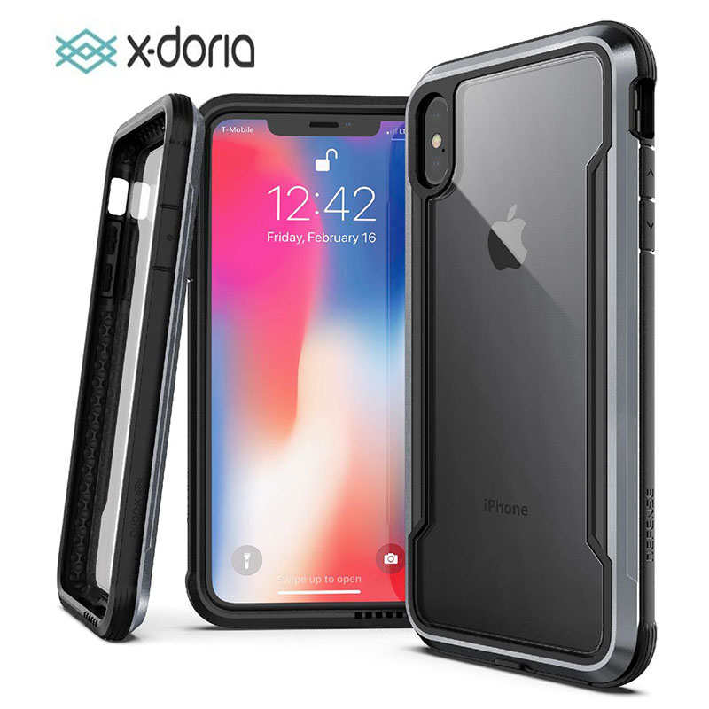 X-doria Phone Case For iPhone XR XS Max Defense Shield Military Grade Drop Tested Case Cover For iPhone X X XS Max Capa CoqueX-doria Phone Case For iPhone XR XS Max Defense Shield Military Grade Drop Tested Case Cover For iPhone X X XS Max Capa Coque