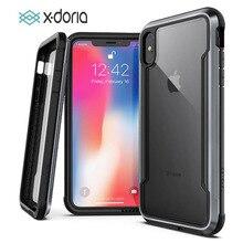 X doria caso de telefone para iphone xr xs max escudo de defesa militar grau testado gota capa para iphone x xs max capa coque
