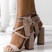Women Sandals Summer Sexy High Heels Sandals For Women Shoes 10cm Heels Sandals Gladiator 34 43