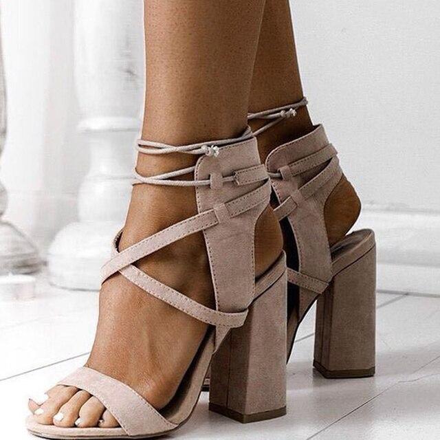 Women Sandals Summer Sexy High Heels Sandals For Women Shoes 10cm Heels Sandals Gladiator 34-43 Opean Toe Women Summer Shoes