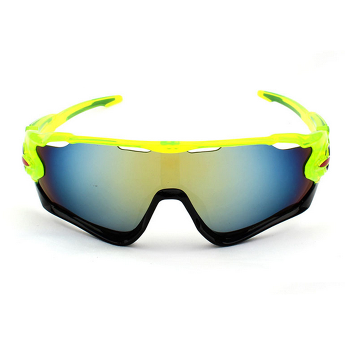 Night Vision Fishing Eyewear Outdoor Activities Goggle Skiing Cycling Wind Goggle Fluorescent Green Frame Black Edge Gold Film
