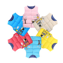 hot deal buy 2018 children outerwear winter jackets coats baby girl vest cartoon giraffe baby boy vest warm outerwear & coats
