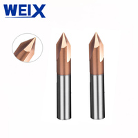 מכונת סוף WEIX 1PC 90A טחנת Solid Carbide chamfer סוף CNC כרסום קאטר HRC50 טונגסטן פיסות הנתב פלדה מכונת חיתוך (2)