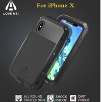 For iPhone X Case Original LOVE MEI Extreme Powerful life Waterproof Shockproof Dropproof Armor Metal Cover for Apple iPhoneX 10