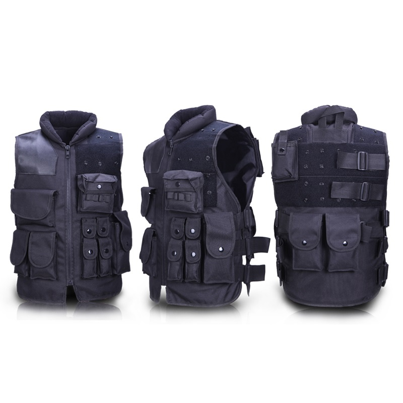 Wholesale Tactical Vest Outdoor CS Field Protective Equipment US Black Riding Security / Security Vest protective black vest 7 62 black wallet one pair