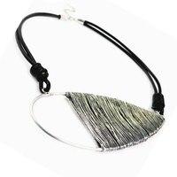 Vintage Oversize Charm Golden Handmade Wire Wrap Metal Drop Pendant necklace for Women Jewelry Unique Pendant Necklace NL-1608