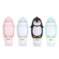 90ml Travel Empty Silicone Refillable Bottles – Packing Press Bottle For Lotion Shampoo